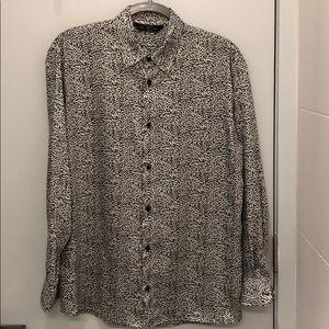 Zara Man Animal Print Shirt Leopard